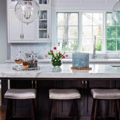 White Leather Kitchen Bar Stools Makeovers Brown Island With Marble Top - Traditional ...