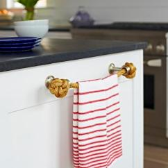 Kitchen Towel Bar Used Cabinets Nj Beach Bungalow With Rope Holder Cottage