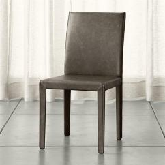 Grey Parson Chair Covers Masoli Swivel Gray Armless Leather Dining