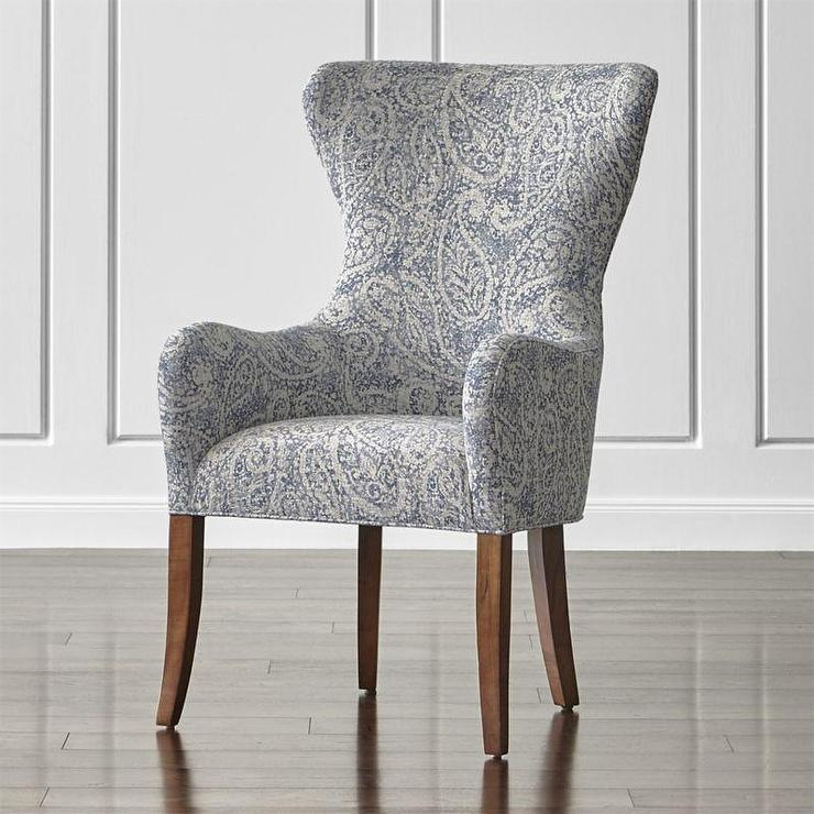 z gallerie chairs jysk christmas chair covers blue and white paisley wingback