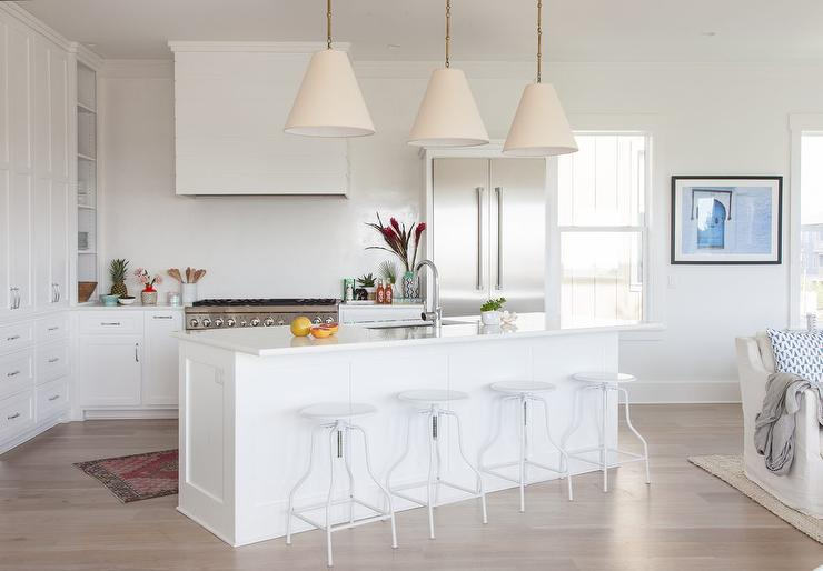 white kitchen faucet cherry cart angled island design ideas