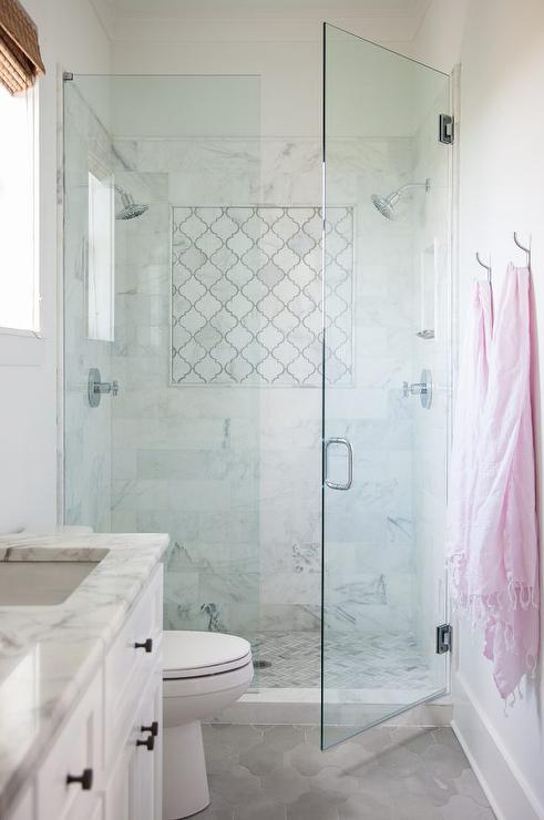 Quatrefoil Tile  Contemporary  bathroom  Artistic