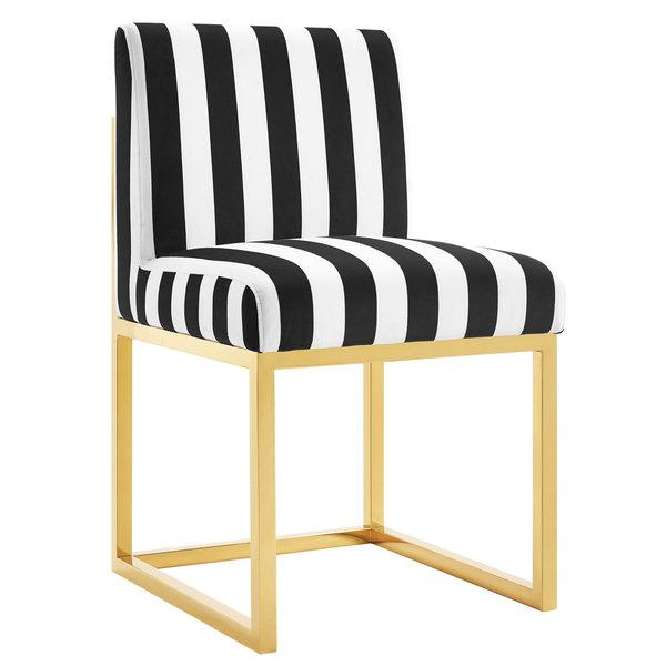 White And Gold Accent Chair