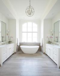 Limestone Tile Floor - Transitional - bathroom - Gilday ...