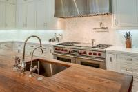 Butcher bLock Island Top with Stainless Steel Sink and Two ...