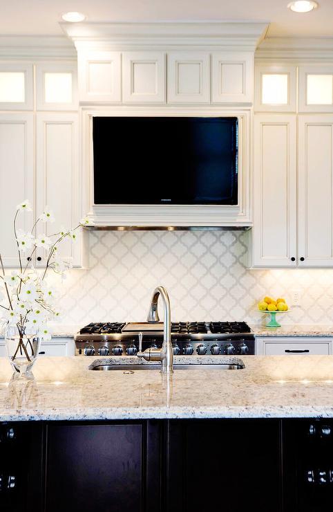 Kitchen Hood with TV Niche  Transitional  Closet