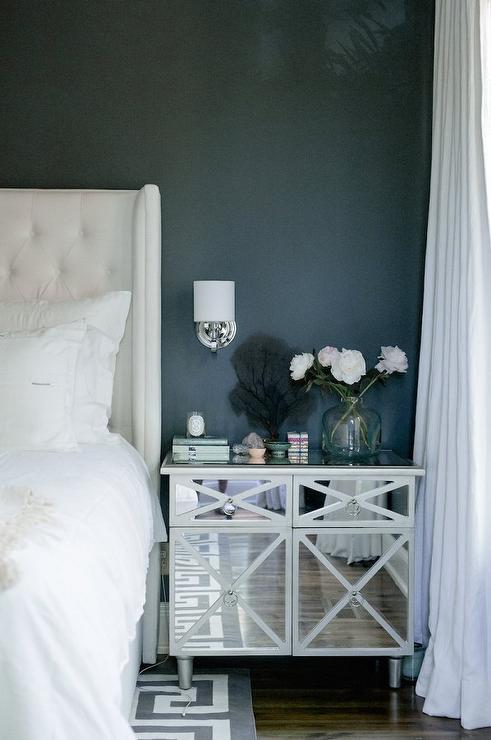gray greek key rug contemporary bedroom