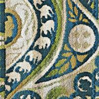 blue swirl rug  Roselawnlutheran