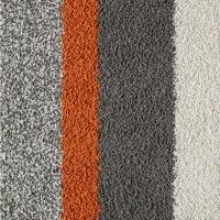 Orange and Gray Lines Carpet Tile