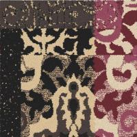 Jimdandy Black and White Geometric Stripe Carpet Tile