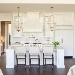 Kitchen Lanterns Funny Gadgets Ivory With Glazed Stacked Backsplash Tiles