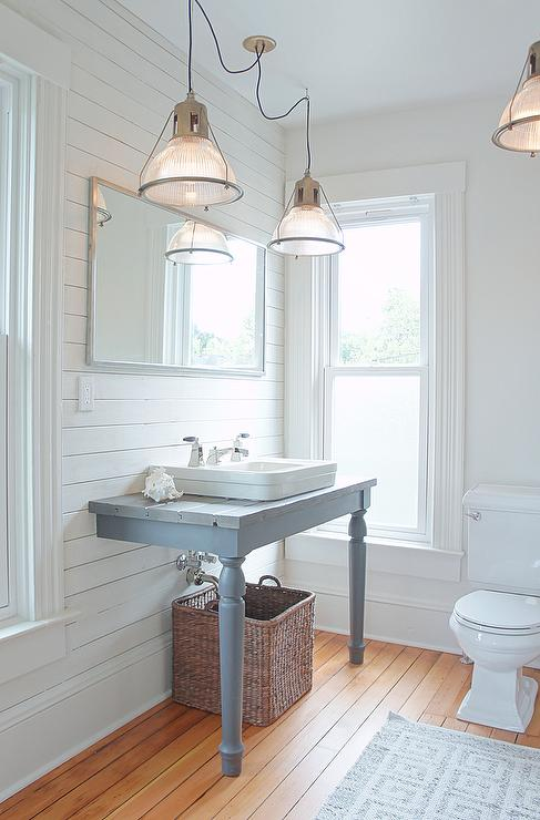 Silver Gray Paint Colors  Transitional  bathroom