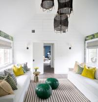 Green and Gray Living Room - Contemporary - living room