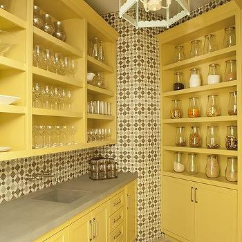 gooseneck kitchen faucet mission cabinets yellow and gray backsplash tiles design ideas
