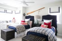 Blue And Red Nautical Bedrooms Design Ideas