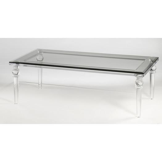 Lucite Clear Coffee Table