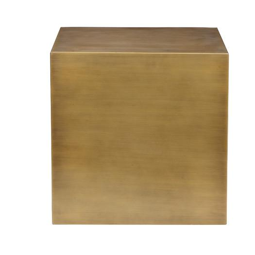 Brushed Brass Block End Table