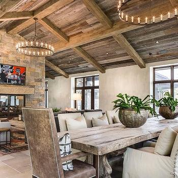 country style living room ideas wall color for with brown furniture design double sided stone fireplace