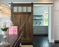 Kitchen Pantry with Salvaged Wood Barn Door on Rails ...