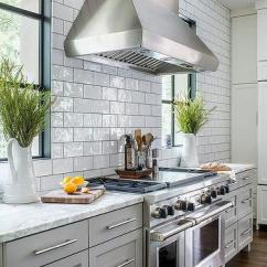 Subway Tiles In Kitchen Over The Sink Light Tile With Dark Grout Design Ideas Gray Cabinets White And Granite Counters