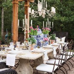 French Country Kitchen Chair Cushions Wheelchair Zumba Concrete Outdoor Dining Table Design Ideas
