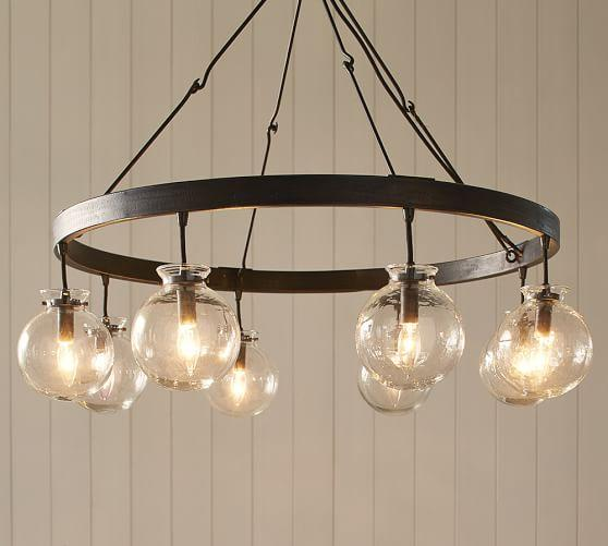 Glass Globe Chandelier At Wrapables Pendants Amp Chandeliers