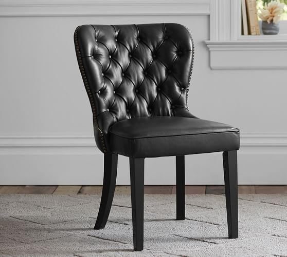 leather tufted dining chair wedding covers for sale australia black