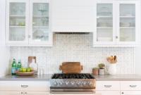 Gray Mosaic Kitchen Backsplash Tiles Design Ideas