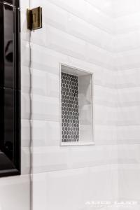 Black Hex Tile Shower NIche - Contemporary - Bathroom