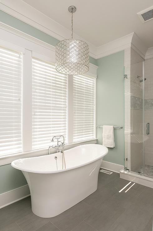 Bathroom With Wood Like Tiles Design Ideas