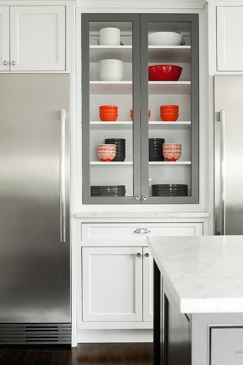 Under Cabinet Glass Front Refrigerators  Transitional