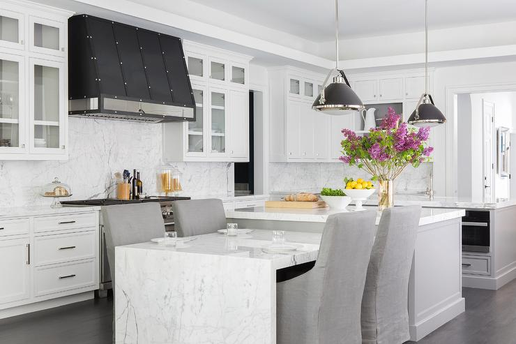 Marble Waterfall Dining Table Design Ideas