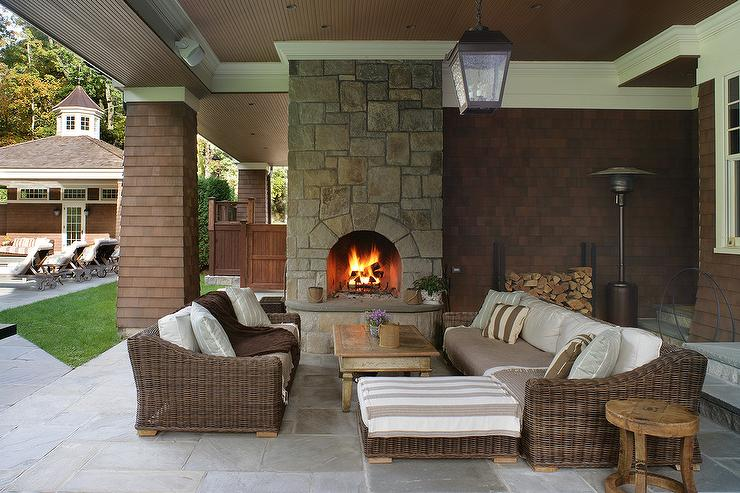 back of sofa facing fireplace torino 9pc rattan garden or conservatory furniture corner set brown wicker and chairs with stone outdoor ...