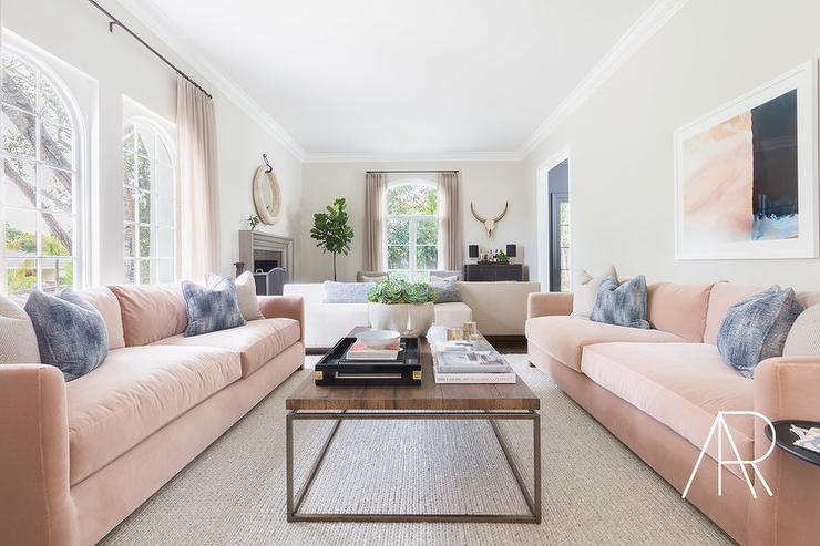 how to arrange living room with tv above fireplace formal rooms ideas dark gray sofa pink and pillows - transitional ...