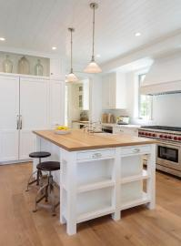 Display Shelf Over Fridge - Transitional - Kitchen