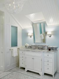 beadboard ceiling in bathroom | www.Gradschoolfairs.com