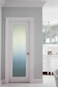 Corner Frosted Glass Pantry Door Design Ideas