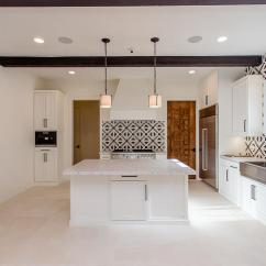 Cement Tile Kitchen Buy Old Cabinets Mediterranean With Black And White Tiles