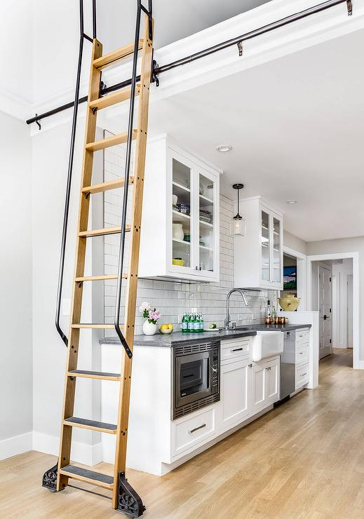 kitchen ladder hands free faucet loft with transitional