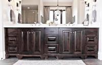 Staining White Bathroom Cabinets Darker  Review Home Decor