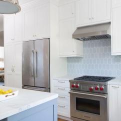 Kitchen Cabinets Sets Laminate Countertops Home Depot White With Blue Backsplash Tiles ...