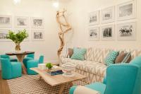 Aqua Blue Wingback Chair with Photo Gallery - Contemporary ...