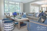 Blue And Gray Living Room Curtains