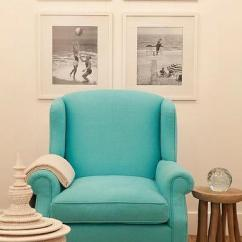Aqua Accent Chair Wooden Desk Chairs Design Ideas Blue Wingback With Photo Gallery