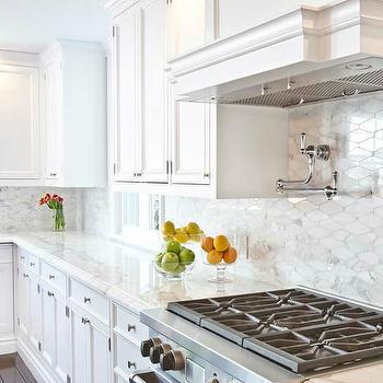 carrera marble kitchen backsplash tiles