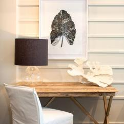 White Wooden Chair For Desk Office Covers Salvaged Wood X Based With Slipcovered Cottage
