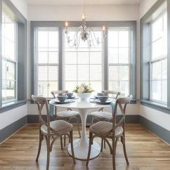 Breakfast Table And Chairs For Two Chair Mic Stand Round Wood Marble Dining With Wooden - Transitional Room