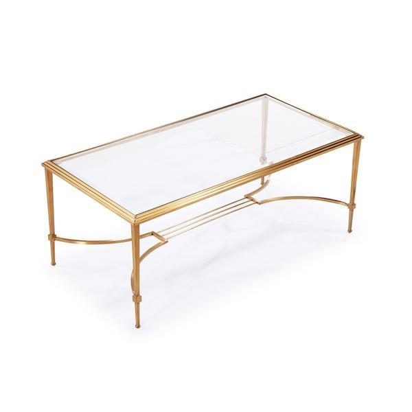 gold frame beveled glass rectangle