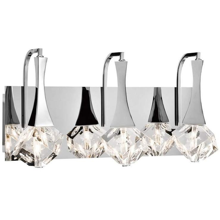 Crystal Shade Three Light Vanity Light