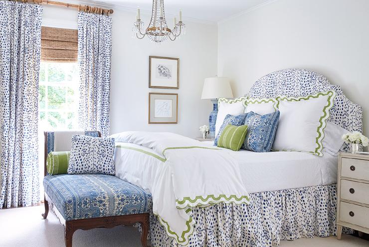 Long Curtain Rods  Transitional  bedroom  Sage Design